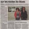 """Sud Ouest, article sur mon exposition """"Du blues à l'âme"""""""